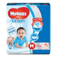 Bỉm - Tã dán Huggies size M- 76 miếng (cho bé 5-10kg)