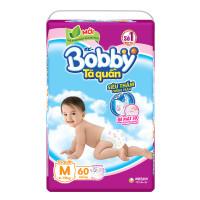 Bỉm - Tã quần Bobby size M - 60 miếng (cho bé 6 - 10kg)