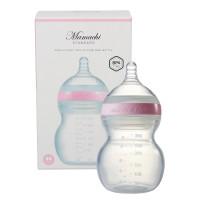 Bình sữa Mamachi 260ml siêu cao cấp 100% Silicone - màu Hồng