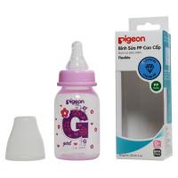 Bình sữa Pigeon 120ml PP cao cấp  màu hồng