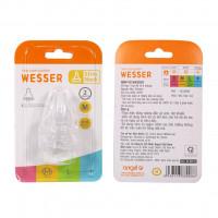 Bộ 2 núm ty lỗ tròn Wesser size M 4-6M