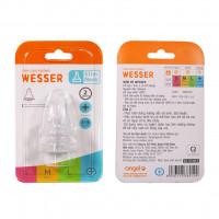 Bộ 2 núm ty Wesser size + (Cut) 3-18M