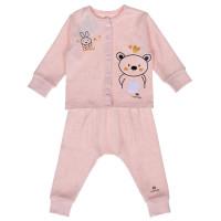Quần áo sơ sinh Mamago in hình gấu và thỏ (Hồng Cam)