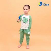 Bộ dài tay bé trai in hình khủng long dễ thương Kiza