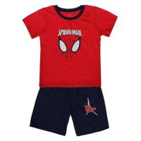 Bộ quần áo cộc bé trai in người nhện Kiza (đỏ tím than)