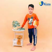 Bộ tay dài bé trai in chuột Mickey Kiza (Cam)