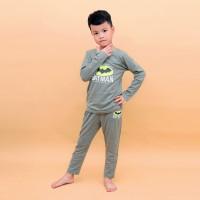 Bộ tay dài bé trai in hình Batman Kiza (Ghi)