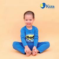 Bộ tay dài bé trai in hình Batman Kiza (Xanh)
