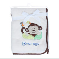 Chăn bông Mamago thêu hình chú khỉ tinh nghịch MM03