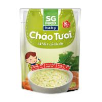 Cháo dinh dưỡng SG Food vị cá hồi - cải bó xôi 240gr