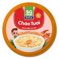 Cháo Sài Gòn Food vị cua gấc và đậu hà lan 240g (Hộp)