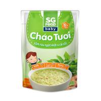 Cháo tươi SG Food vị tôm, rau ngót nhật và cà rốt 10M+