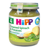 Dinh dưỡng đóng lọ Hipp  vị rau chân vịt, khoai tây và sữa 4003