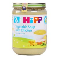 Dinh dưỡng đóng lọ Hipp Súp Thịt gà rau tổng hợp 7973 (190g)