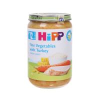 Dinh dưỡng đóng lọ Hipp Cơm nhuyễn, gà tây, rau tổng hợp 6813 220g