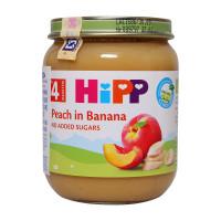 Dinh dưỡng đóng lọ Hipp Đào Chuối 4242 (125g)