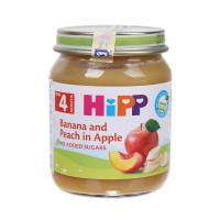 Dinh dưỡng đóng lọ Hipp vị chuối, đào vả Táo 4283 (125g)