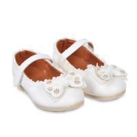 Giày nơ bé gái bo đế viền size trung (3-5 tuổi)