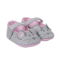 Giày tập đi Mamago họa tiết Micky cho bé gái Q13 (màu xám)