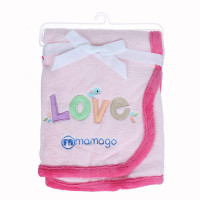 Chăn bông Mamago thêu chữ LOVE