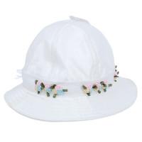 Mũ vành cho bé gái đính hoa ren VIP 1476