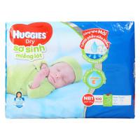 Miếng lót sơ sinh Huggies NB1 - 100 miếng (cho bé dưới 5 kg)