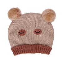 Mũ len hai bông hình gấu xinh xắn