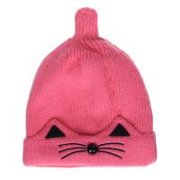 Mũ len thêu râu mèo đen xinh xắn