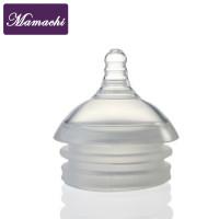 Núm ty Silicone Mamachi 2 lỗ dành cho bé từ 3-6 tháng tuổi