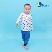 Quần cotton bé trai in hình máy bay Kiza (Xanh)