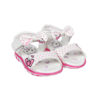 Sandal cho bé gái in Kitty nơ quai DN