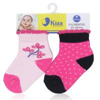 Set 2 đôi tất sơ sinh Kiza 2011ss-008