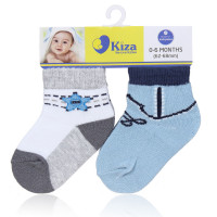 Set 2 đôi tất sơ sinh Kiza 2016ss-239