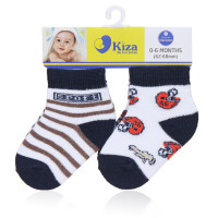 Set 2 đôi tất sơ sinh Kiza 2016ss-243