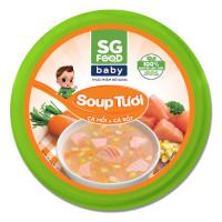 Soup Sài Gòn Food vị cá hồi và cà rốt 240g (Hộp)