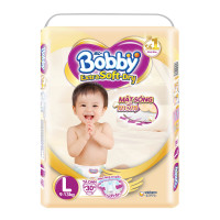 Bỉm - Tã dán Bobby Extra Soft - Dry cao cấp size L - 30 miếng (cho bé từ 9-13kg)