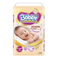 Bỉm - Tã dán Bobby Extra Soft Dry size NB - XS 48 miếng (cho bé 0-5kg)