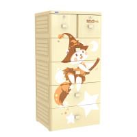Tủ nhựa Mina Duy Tân 5 tầng 6 ngăn (màu kem)