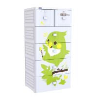 Tủ nhựa Mina Duy Tân 5 tầng 6 ngăn (màu trắng)