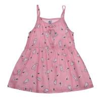 Váy lanh bé gái 2 dây Kiza in thỏ