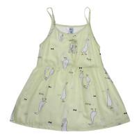 Váy lanh bé gái 2 dây Kiza in vịt