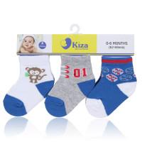Vỉ 3 đôi tất sơ sinh Kiza 2013BSS-039