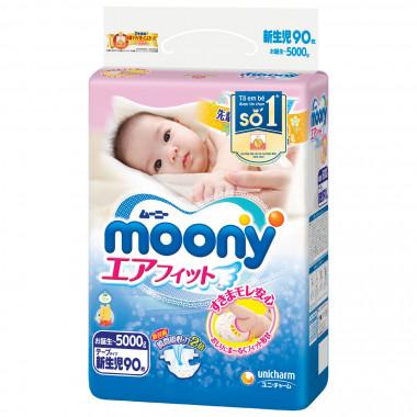Bỉm - Tã dán Moony Newborn - 90 miếng (cho bé ~ 5kg)