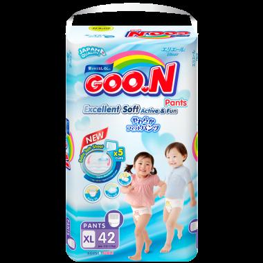 Bỉm  - Tã quần Goon Slim JB size XL - 42 miếng (cho bé 12 - 17kg)