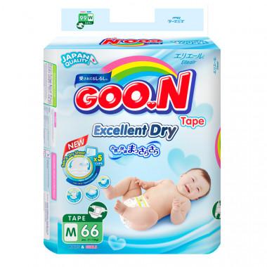 Bỉm - Tã dán Goon Slim JB size M - 66 miếng (cho bé 7-12kg)