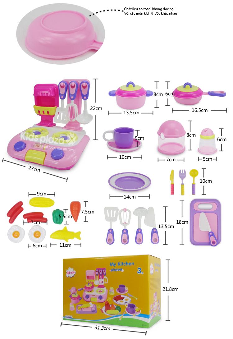 Bộ đồ chơi nhà bếp ParkField 38 pcs