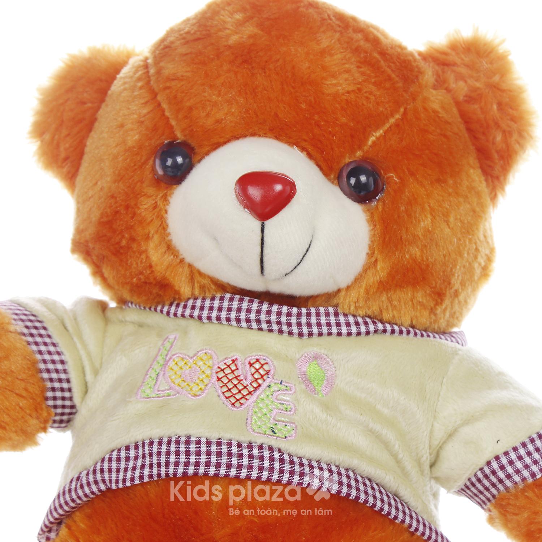 Gấu bông mặc áo Kids Love chất liệu mềm mại cho bé