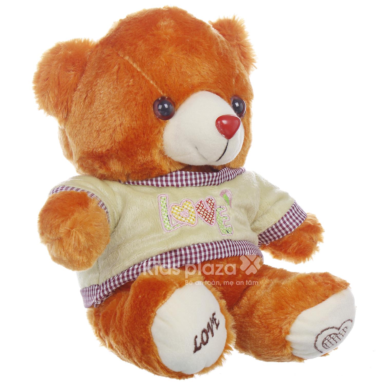 Gấu bông mặc áo Kids Love chất liệu mềm mại