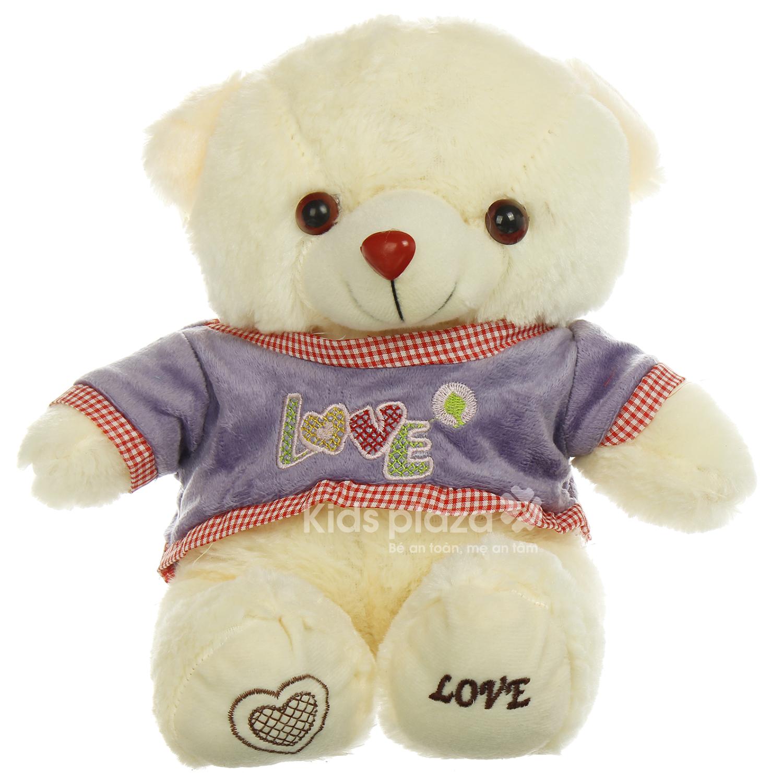Gấu bông mặc áo Kids Love thiết kế thông minh