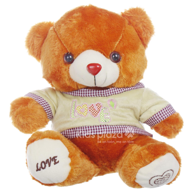 Gấu bông mặc áo Kids Love được các bé ưa thích